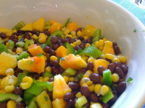 Black Bean and Peach Salad