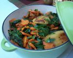 Sweet Potato, Apple and Braising Greens
