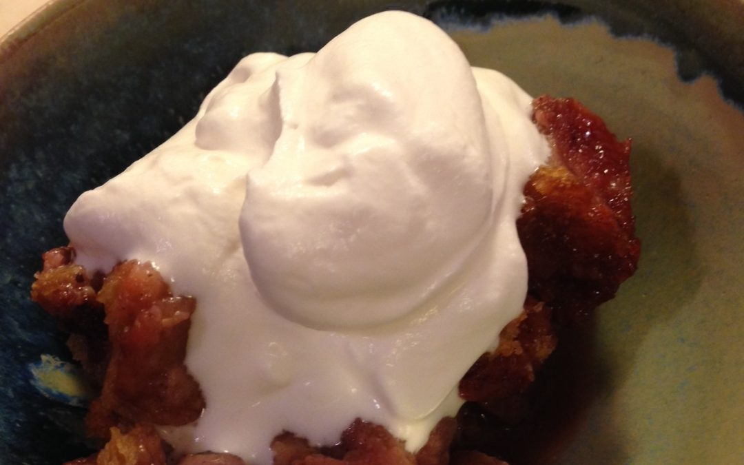 Strawberry Vanilla Bread Pudding