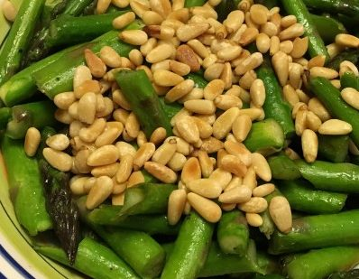 Asparagus and Pine Nuts