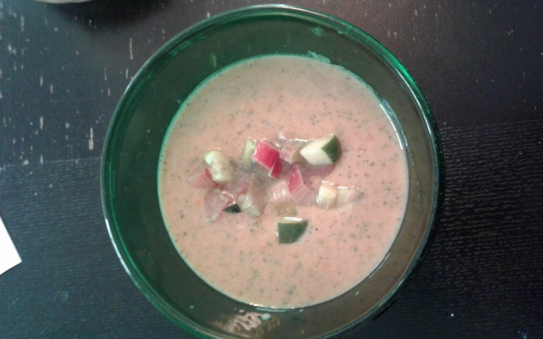 Rhubarb Gazpacho