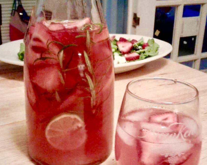 Very Berry and Rosemary Lemon-Limeade
